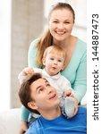 picture of happy parents... | Shutterstock . vector #144887473