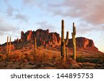 Sunset Colors On Superstition...