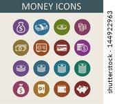 money icons | Shutterstock .eps vector #144922963