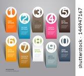 abstract business paper cut... | Shutterstock .eps vector #144947167