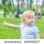 portrait of a little boy in a... | Shutterstock . vector #144950527