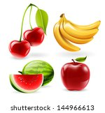 vector fruit set   watermelon ...