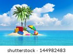 travel  tourism and vacations... | Shutterstock . vector #144982483