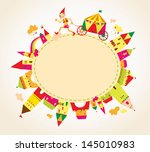 childrens background with... | Shutterstock .eps vector #145010983