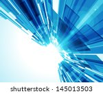 abstract virtual space with... | Shutterstock .eps vector #145013503