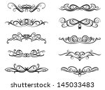 vignettes and monograms set in... | Shutterstock .eps vector #145033483