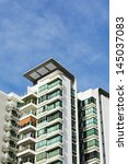 high rise apartments with clear ... | Shutterstock . vector #145037083