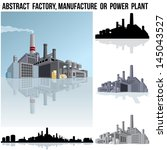 abstract industrial factory ...