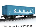 blue rail wagon.   Shutterstock . vector #145051537