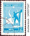 turkey   circa 1941  a stamp...   Shutterstock . vector #145057267