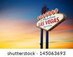 Stock photo las vegas sign at sunset 145063693