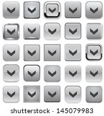 set of download square grey... | Shutterstock .eps vector #145079983