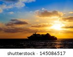 Sea Luxury Cruise Ship  At...