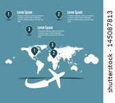 blue flight infographic. vector ... | Shutterstock .eps vector #145087813