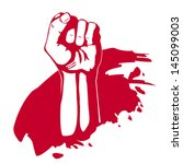 Clenched fist hand vector. Victory, revolt concept. Revolution, solidarity.