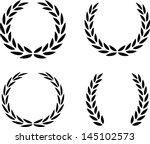 laurel wreaths vector isolated | Shutterstock .eps vector #145102573