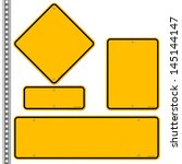 yellow roadsigns set | Shutterstock .eps vector #145144147