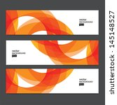 abstract header set | Shutterstock .eps vector #145148527
