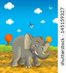 cartoon safari   illustration... | Shutterstock . vector #145159327