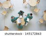 top view of four physicians in...   Shutterstock . vector #145172863