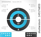 infographic template   color  ... | Shutterstock .eps vector #145176853