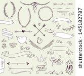 wedding graphic set  arrows ... | Shutterstock .eps vector #145182787