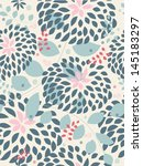 seamless pattern with beautiful ... | Shutterstock .eps vector #145183297