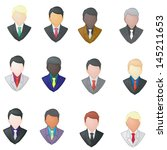 set of businessman icon using... | Shutterstock .eps vector #145211653