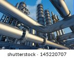 tubes of factory on a... | Shutterstock . vector #145220707