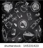 hand drawn set of italian food | Shutterstock .eps vector #145231423