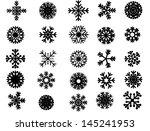 grunge snowflake set vector...