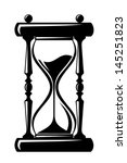 Hourglass. Vector Black...