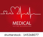 Medical Design Over Red...