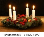 Advent Wreath With Silver...