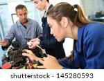 mechanics training class with... | Shutterstock . vector #145280593