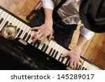 talent and virtuosity. top view ... | Shutterstock . vector #145289017