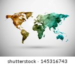 world map  grunge. eps 10