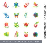 set of design elements.... | Shutterstock . vector #145334287