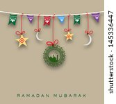 holy month of muslim community... | Shutterstock .eps vector #145336447