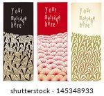 3 japanese style bookmark... | Shutterstock .eps vector #145348933