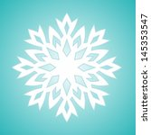 vector stylized white snowflake ...
