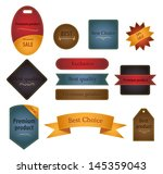 set of labels for any store and ... | Shutterstock .eps vector #145359043