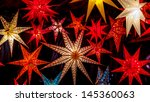 Colorful Christmas Stars At A...