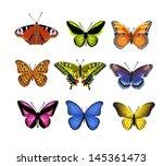 butterflies set | Shutterstock .eps vector #145361473