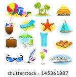 summer symbols | Shutterstock .eps vector #145361887