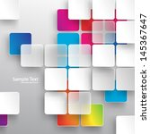 overlapping squares background | Shutterstock .eps vector #145367647