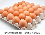 thirty eggs in a box | Shutterstock . vector #145371427
