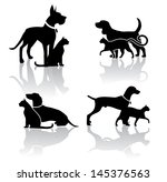 Vet Pet Icons Symbols Set EPS 8 vector, grouped for easy editing. No open shapes or paths.