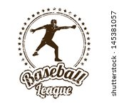 baseball design over white... | Shutterstock .eps vector #145381057