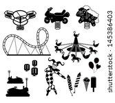 amusement park icons | Shutterstock .eps vector #145386403